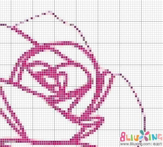 原创十字绣图纸 玫瑰花 图纸下载专区 布流行