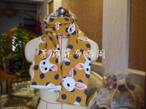 芳菲菲--我家的磨毛棉布做的小围巾