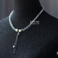 唯美珍珠吊坠水晶项链