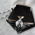法式钉珠刺绣小口金