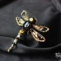 金色蜻蜓胸针