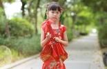 『蝶儿手工』大红中式拖地礼服裙(裁剪图)