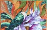 美國AQS入围作品-紫焰、心花朵朵