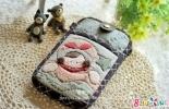 蔷薇朵朵手工--梦想女孩手机包