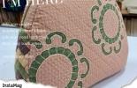 粉彩mola手提袋