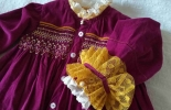 Smocking褶绣大衣裙袖型升级 宫廷风改造