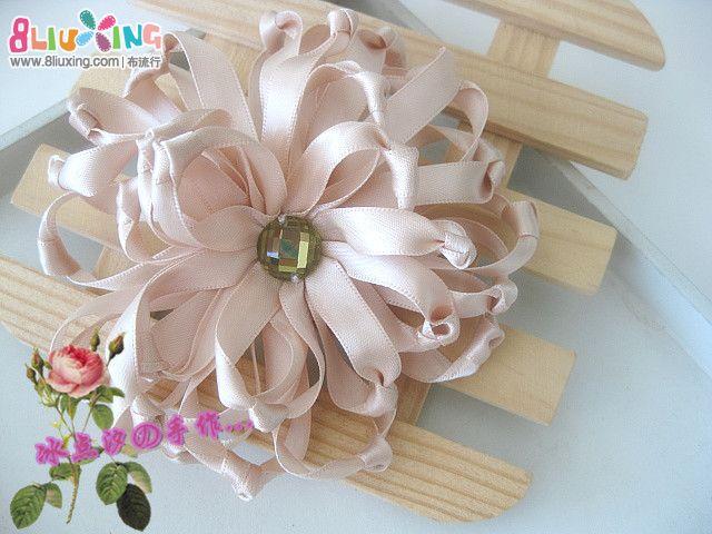 丝带花制作图解 简单丝带花制作图解