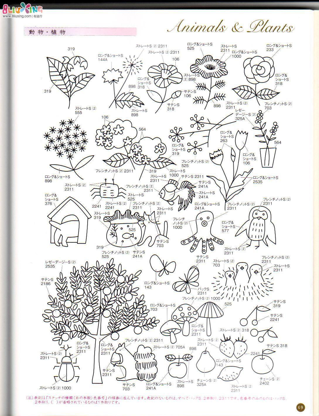 日本刺绣书 刺绣杂货 图纸下载专区