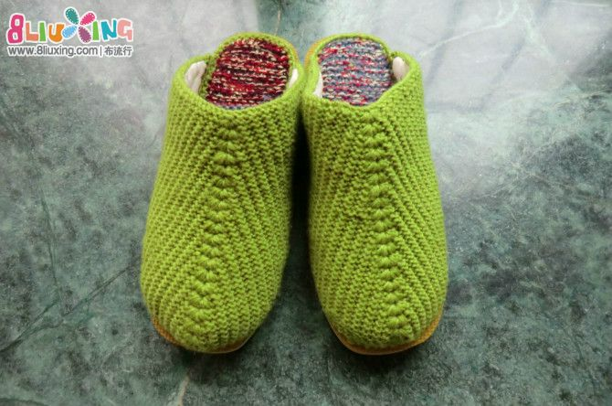 织拖鞋 - 手工编织 布流行手工制作网;
