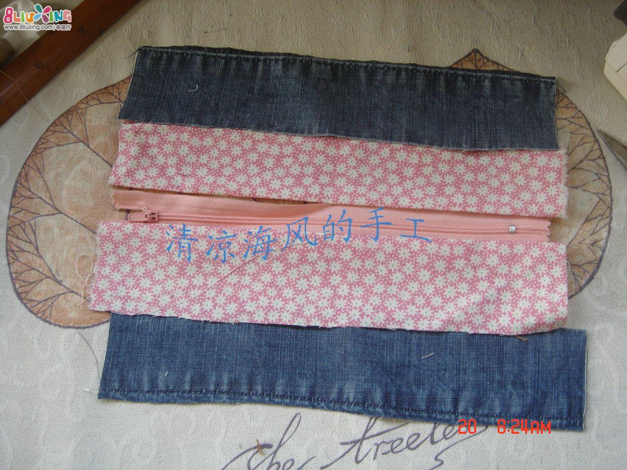 ... 裤废物利用做笔袋内容 牛仔裤废物利用做笔袋图片