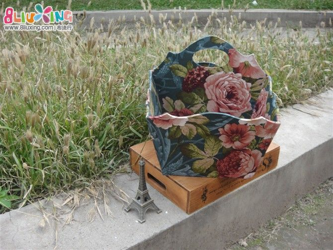 绿花大布盒 - 手工包包