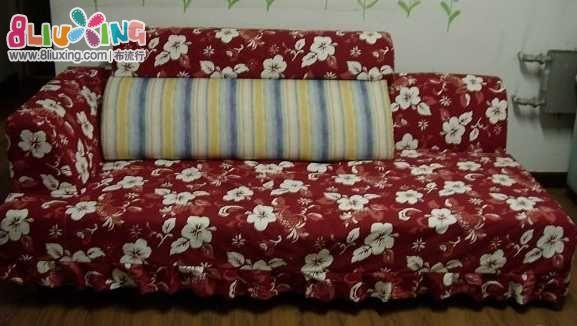 看看我做的沙发罩吧!