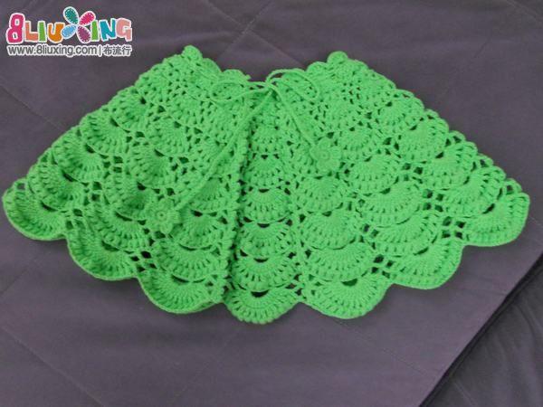 绿野仙踪 钩针小披肩 手工编织 布流行 高清图片