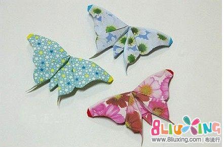 精美的折纸蝴蝶书签折纸图解图片