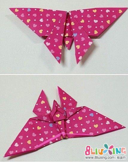 精美的折纸蝴蝶书签折纸图解 布流行图片