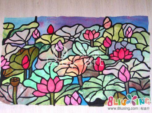 玻璃彩绘-莫奈睡莲之一教程