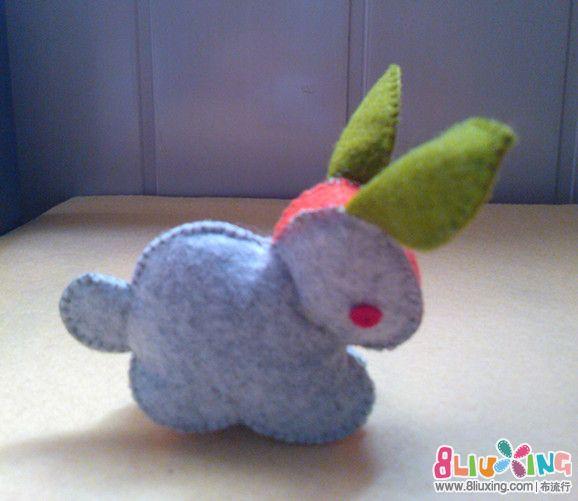 肉屁股萌兔兔 可耐 - 布偶作品秀 - 布流行手工制