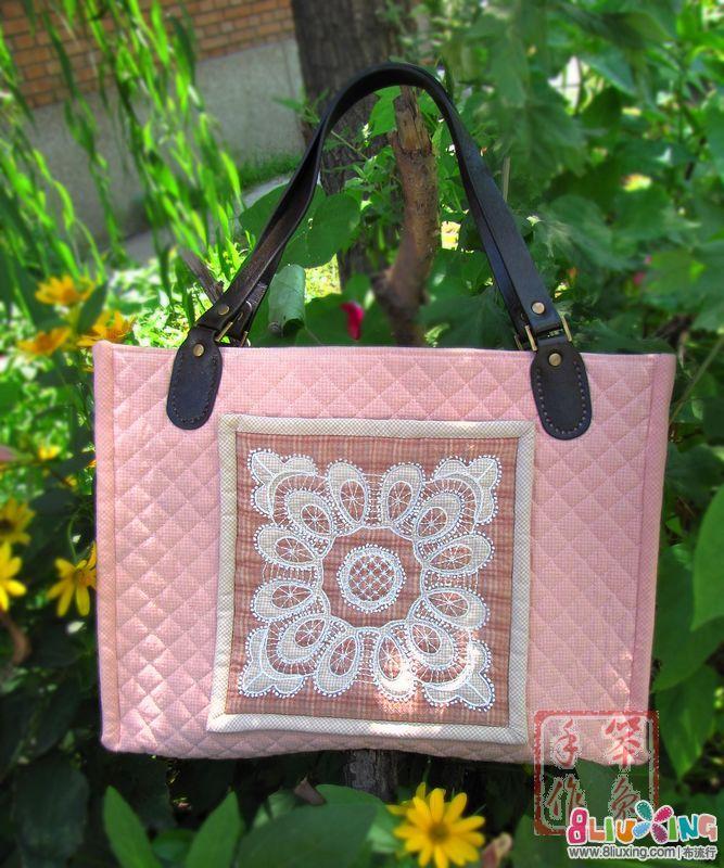 MOLA蕾丝大包完成--粉嫩款