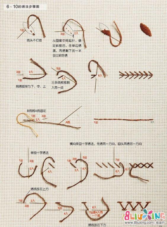 20种刺绣针法