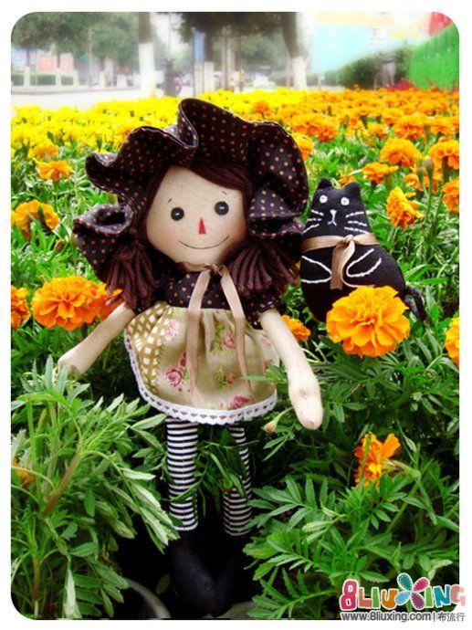 细格教做娃 --- 爱猫的女孩(附图纸)