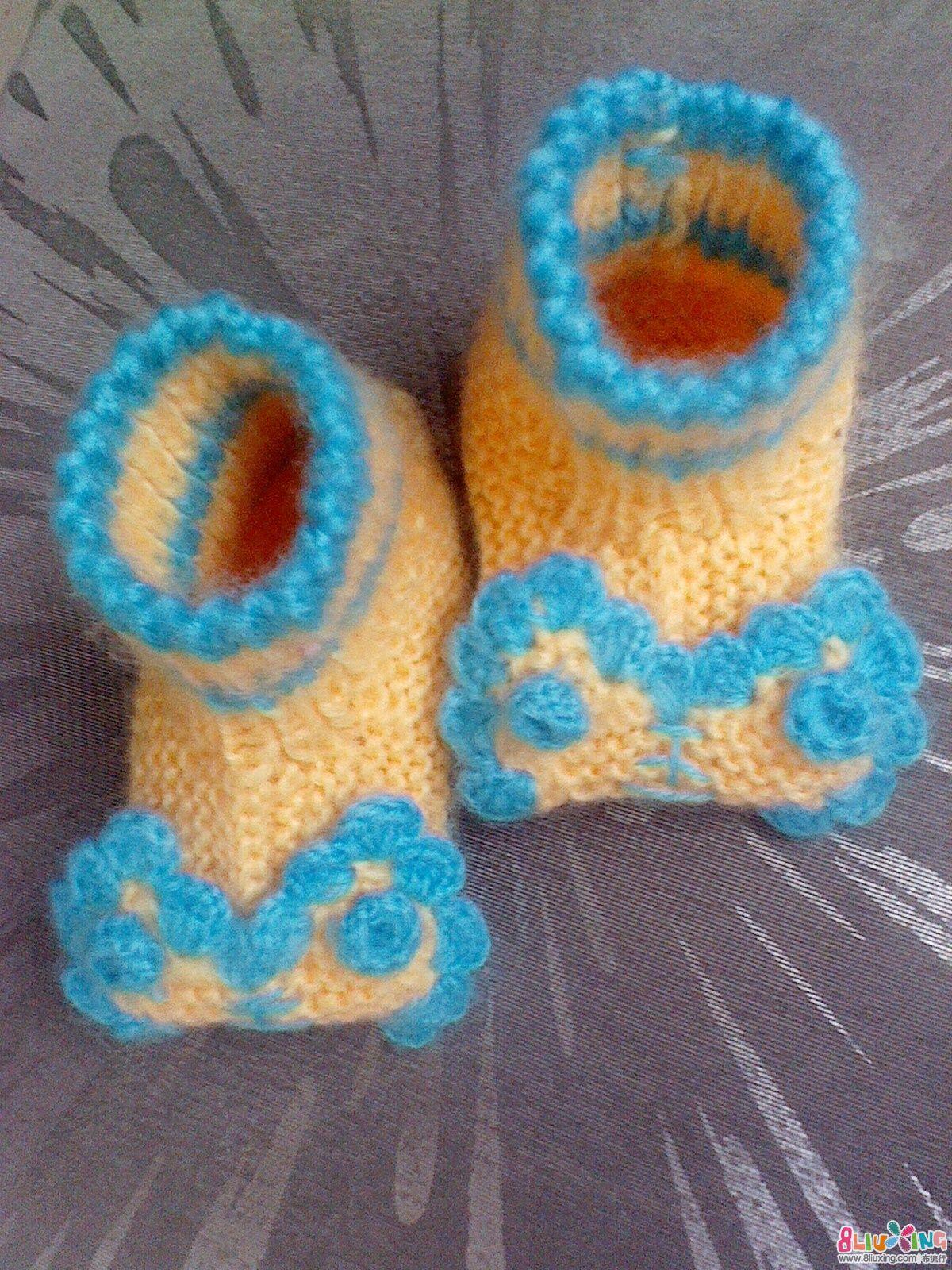 可爱虎头鞋的编织方法 图片合集