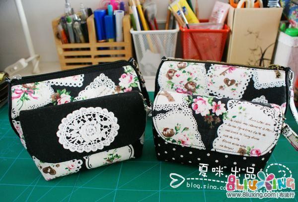 【布包1月—温暖小手包!】♥夏咪出品♥—玫瑰铁塔组包