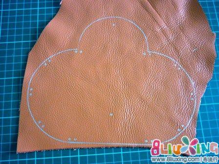 流行皮教程(有教程图纸)-钱包图纸布艺布折叠实木护墙板阳角手工图片