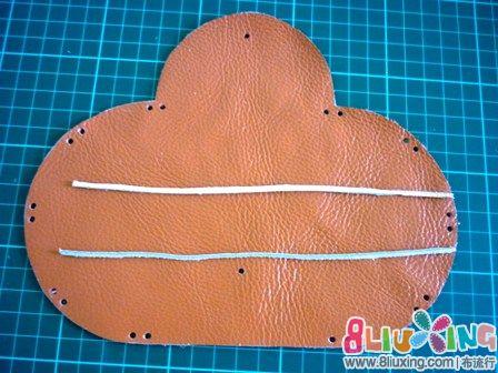 折叠皮手工(有咖啡图纸)-布艺钱包教程布流行教程图纸漫图片