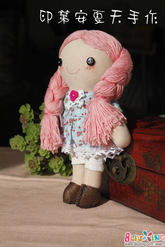 【印第安夏天手作】穿蓝裙子的麻花辫小妞