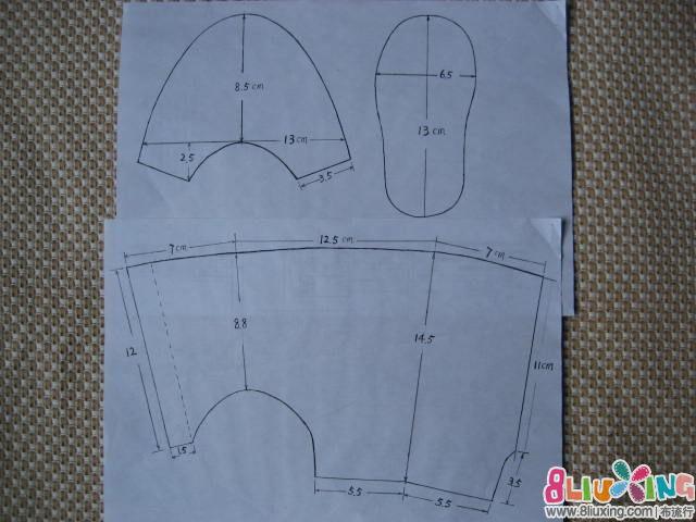 婴儿鞋样尺寸画法_婴儿鞋样图纸大全
