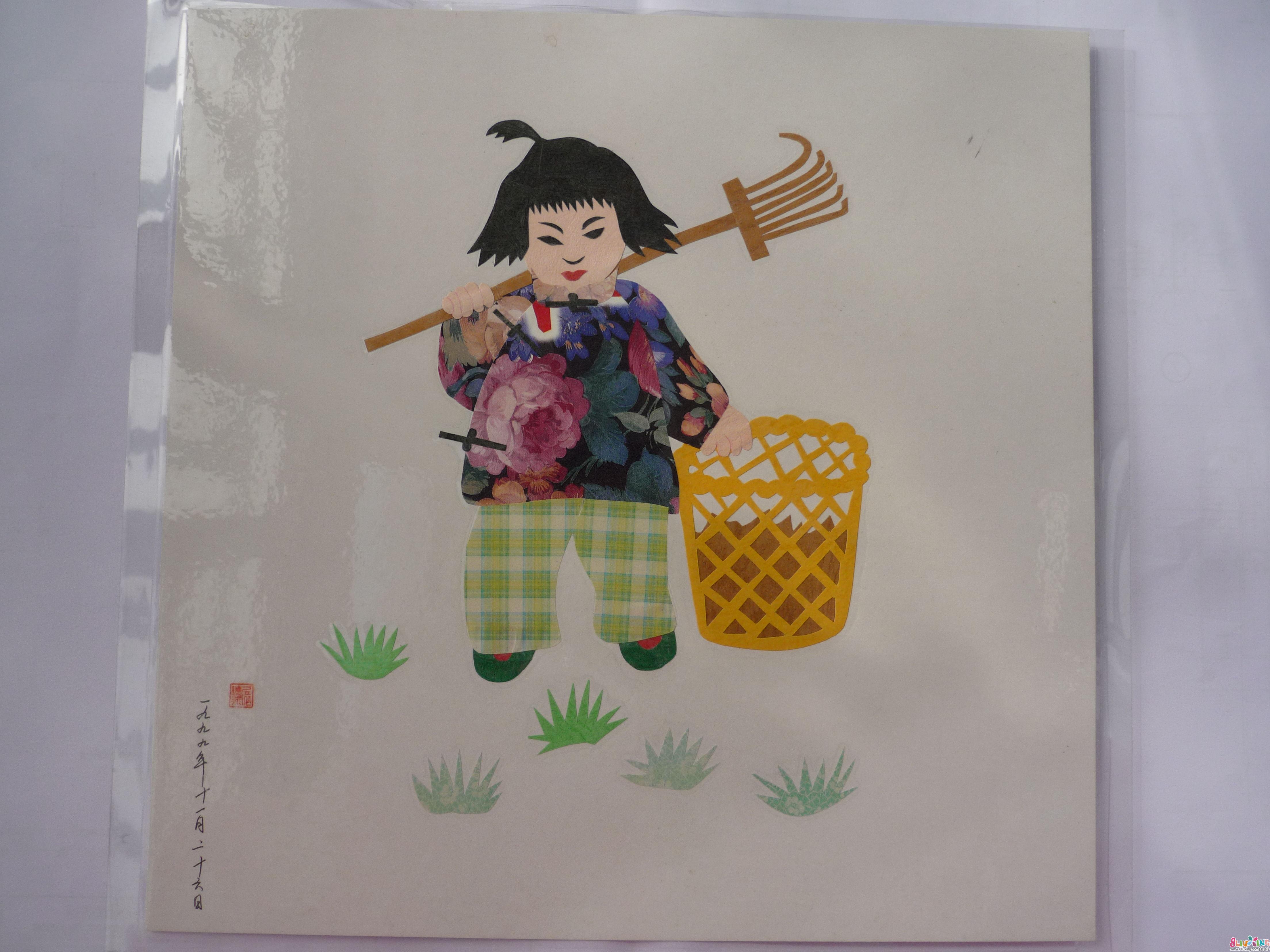 手绞工贴画 海绵纸花朵手工贴画 幼儿园手工撕贴画 用树叶做的手工