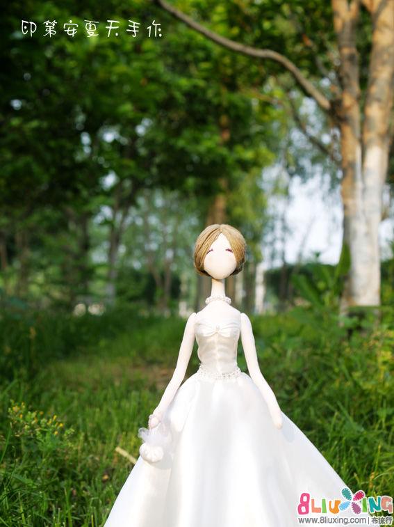 【印第安夏天手作】我的第一个婚纱韩娃