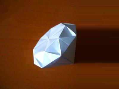 diy创意手工立体钻石折纸图解