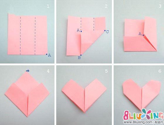 如何diy正方形纸折花方法图解