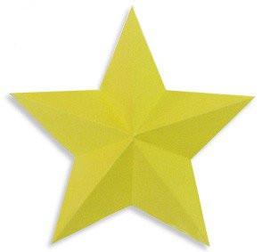 剪纸五角星的折法 布流行