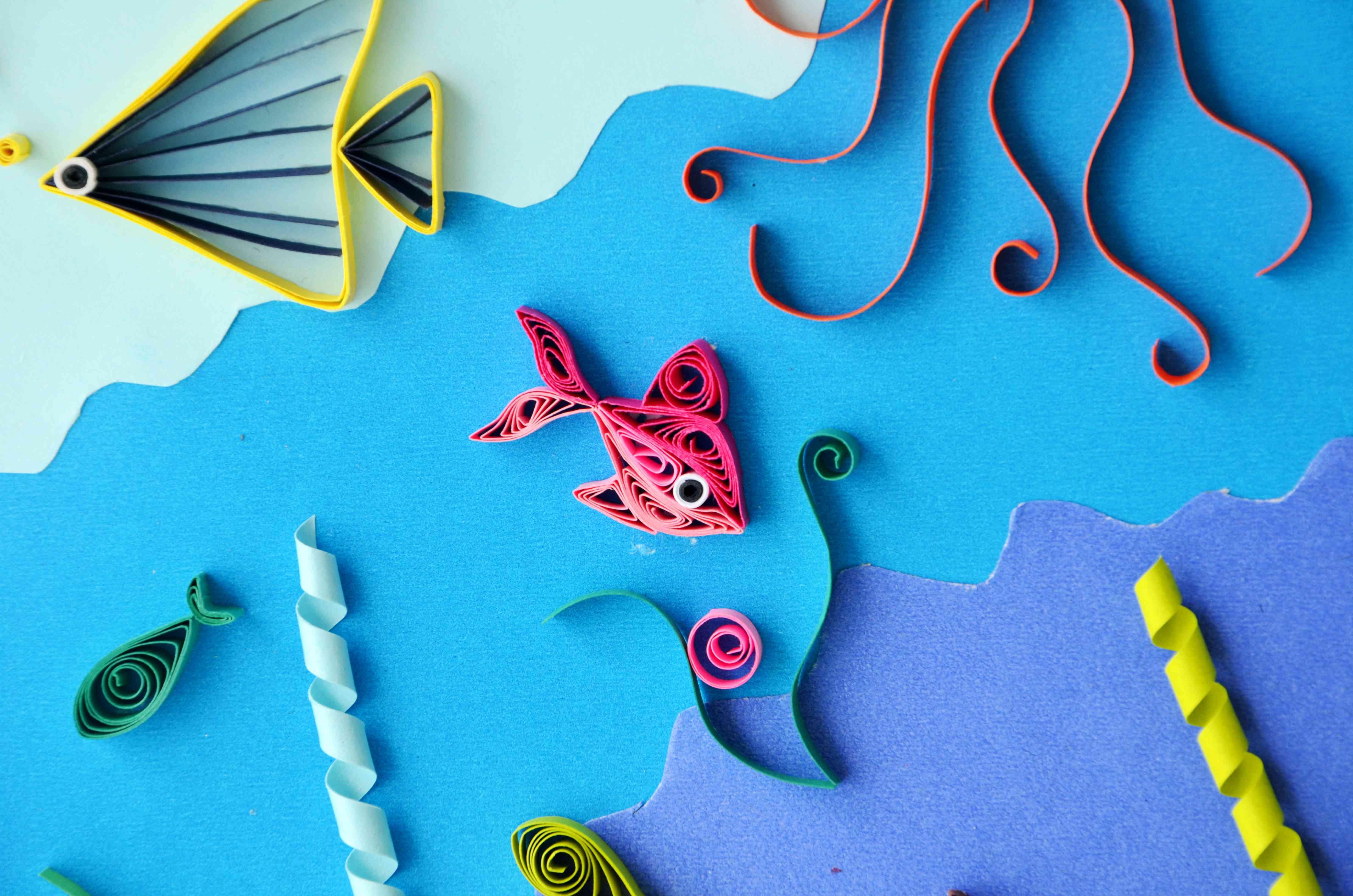 海底世界創意兒童畫_繪畫分享