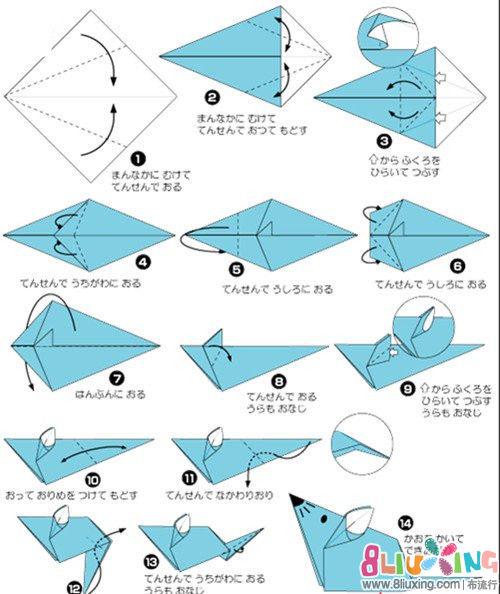 圆帽子折纸步骤图