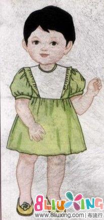 图纸蓬袖高腰裙流行图-童装下载专区布剪裁6130cl机械车床图纸图片