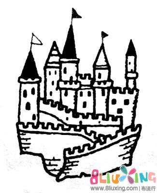 橡皮章素材--城堡