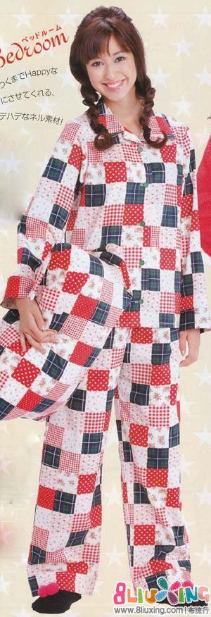 睡衣 长裤 长袖 裁剪 女式/048.jpg