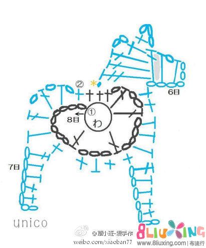 流行图纸装饰品小马-队长下载专区布图解图纸美国积木钻微钩针图片