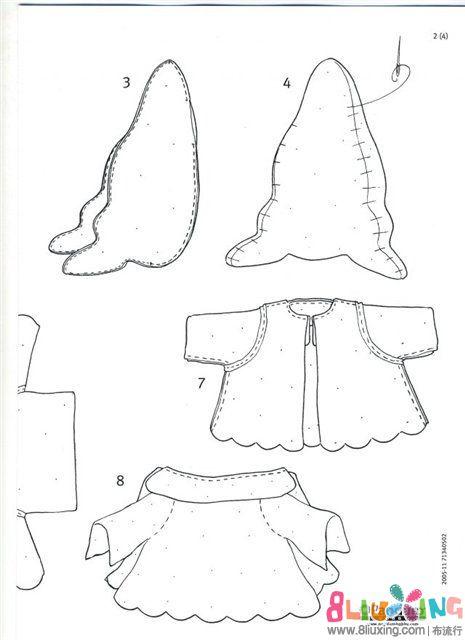 【旭旭的安心布偶】 失落的兔子 附图纸与做法