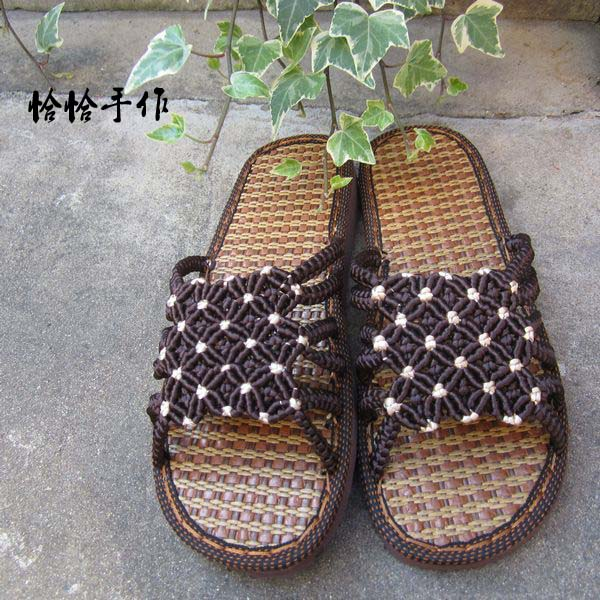 手工编织 满天星拖鞋图片