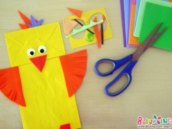 儿童手工制作 纸袋 动物 纸袋手工制作制作驯鹿