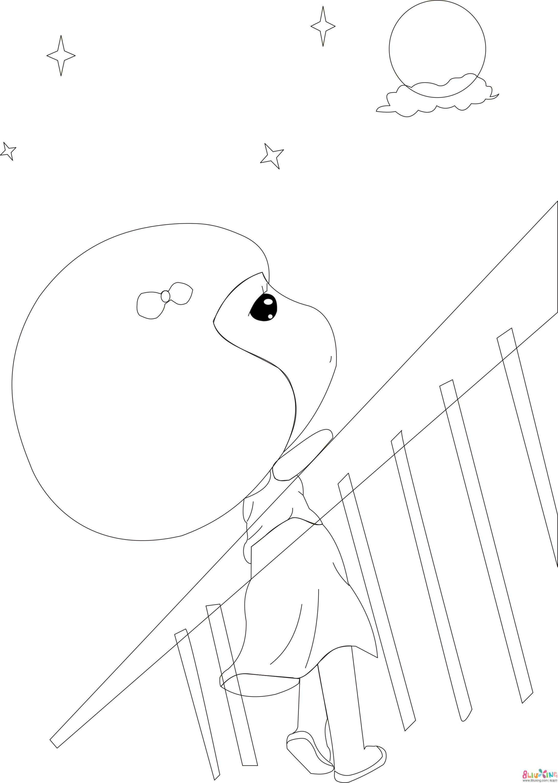 唯美麦拉风——看月亮的小女孩