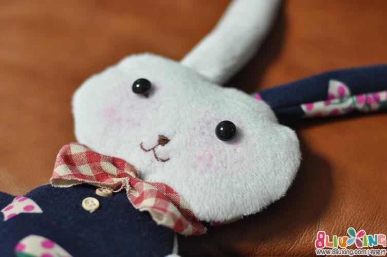 [子贺手作]蝴蝶结拉绒卫衣+可爱兔