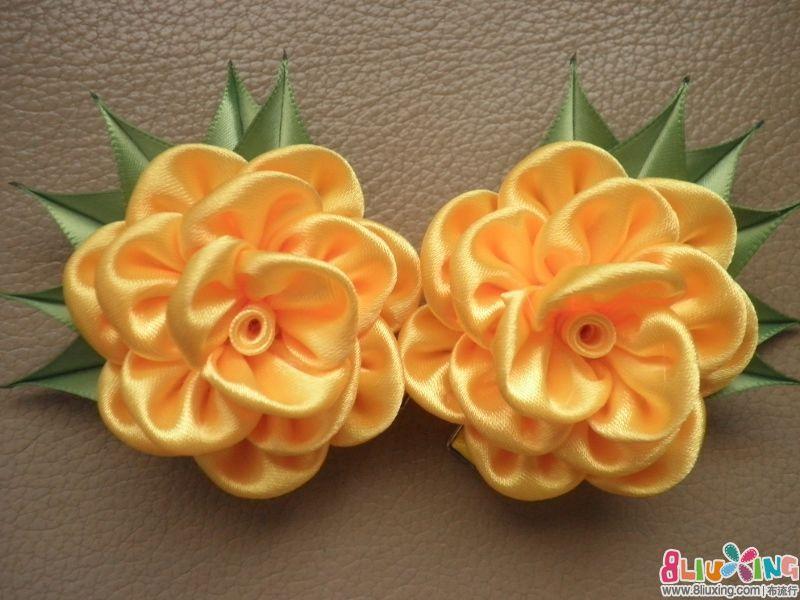 儿童花朵发夹及制作方法