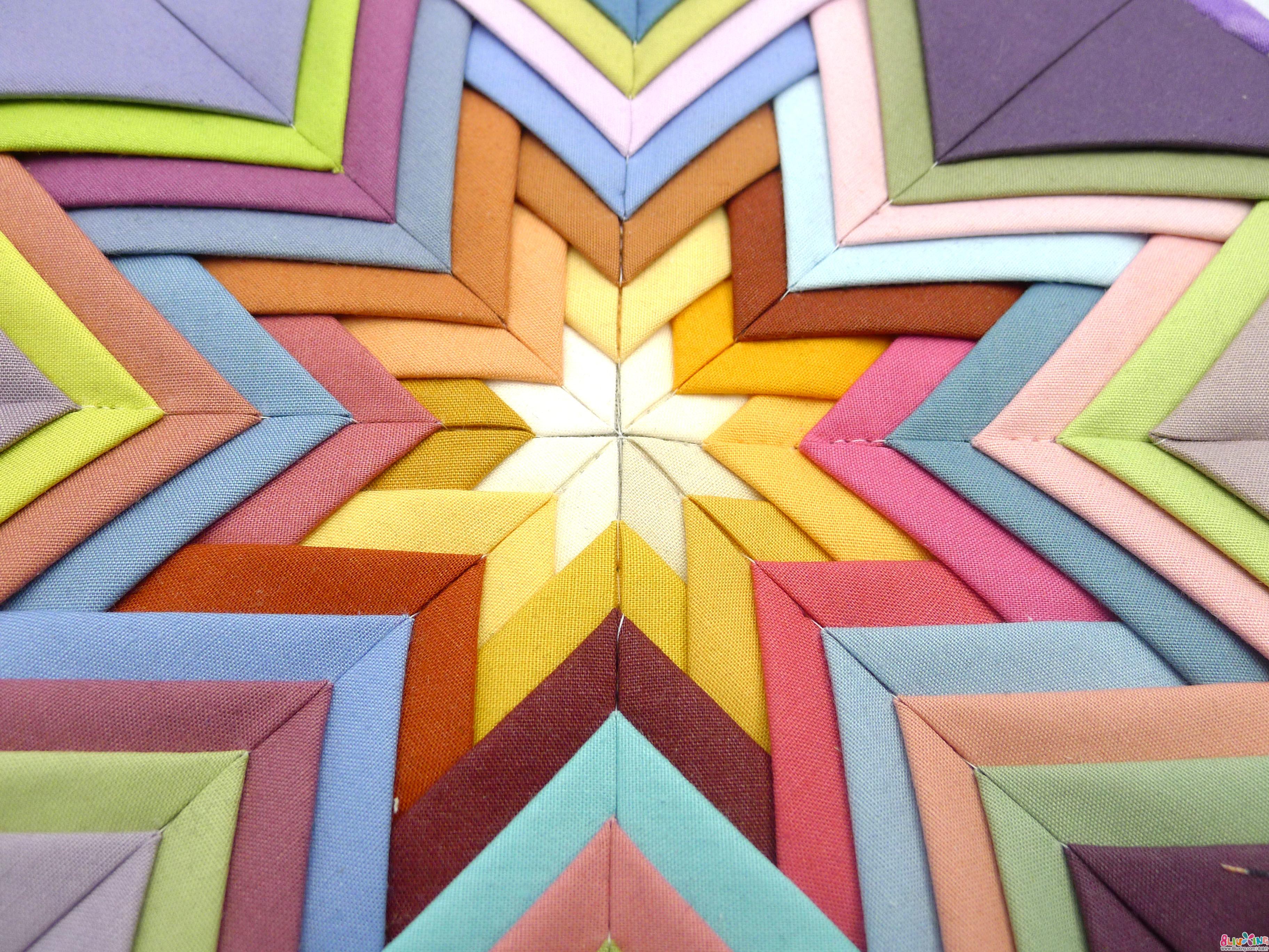 十月手作-三角形折布垫