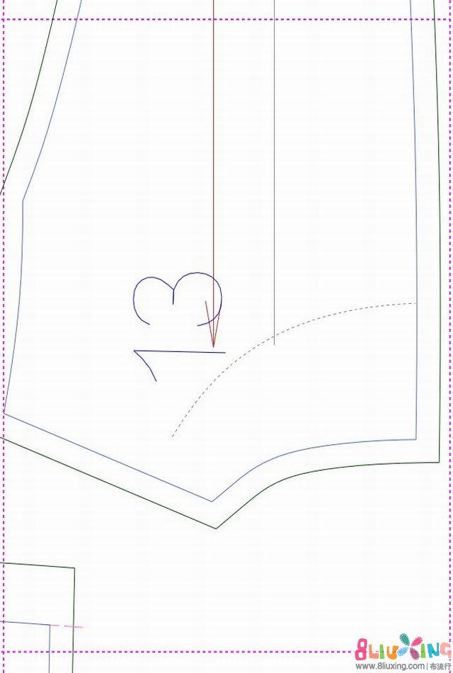 小儿童西装裁剪图教程::西装马夹裁剪图