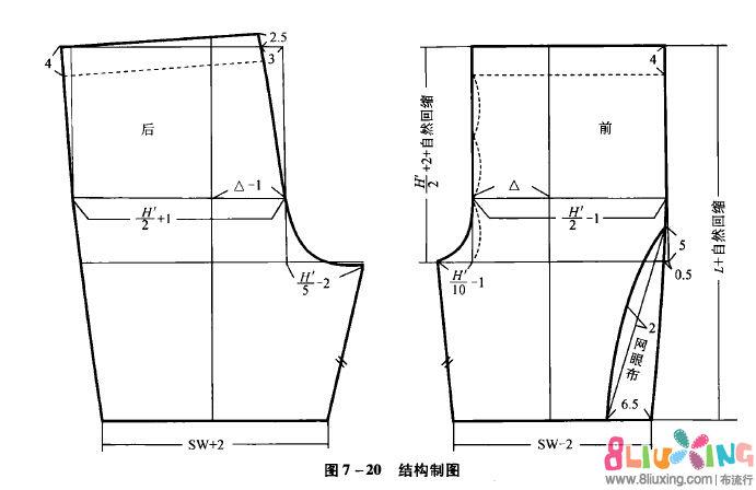 男士大短裤裁剪图_小慧分享-男装运动短裤裁剪图 -